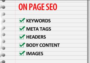 on site seo checklist